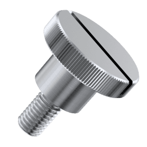 M4 x 10mm Slotted High Thumb Screws (DIN 465) - A1 Stainless Steel