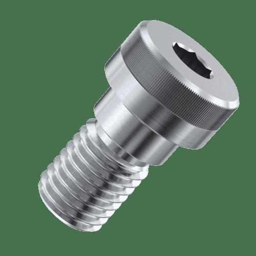 M2 (3mm) x 4mm Knurled Socket Shoulder Screws - Stainless Steel (A2)
