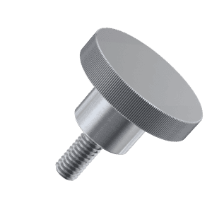 M5 x 12mm Knurled High Thumb Screws (DIN 464) - A1 Stainless Steel