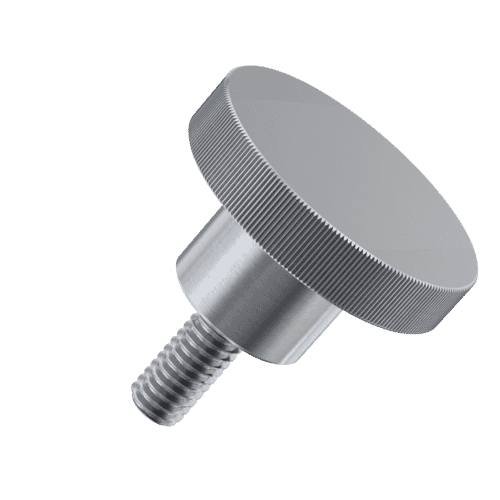M5 x 10mm Knurled High Thumb Screws (DIN 464) - A1 Stainless Steel