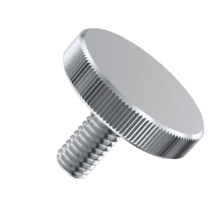 M5 x 10mm Knurled Thin Thumb Screws (DIN 653) - A1 Stainless Steel