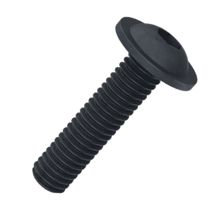 M6 x 25mm Socket Flanged Button Screws (ISO 7380-2) - Black Stainless Steel (A2)
