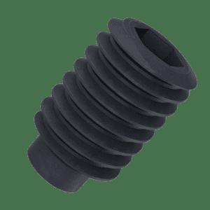 M4 x 8mm Dog Point Set / Grub Screws (DIN 915) - Black Stainless Steel (A2)