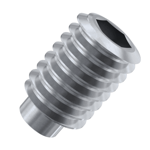 M4 x 8mm Dog Point Set / Grub Screws (DIN 915) - Stainless Steel (A2)