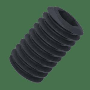 M4 x 3mm Flat Point Set / Grub Screws (DIN 913) - Black Marine Stainless Steel (A4)