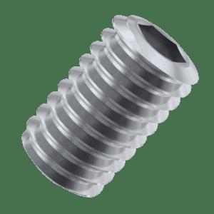 M5 x 8mm Flat Point Set / Grub Screws (DIN 913) - Marine Stainless Steel (A4)
