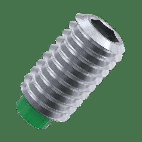 M4 x 7mm Nylon Tip Set Screws / Grub Screws - Stainless Steel / Nylon Insert