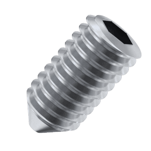M3 x 8mm Cone Point Set / Grub Screws (DIN 914 / ISO 4027) - Stainless Steel (A2)