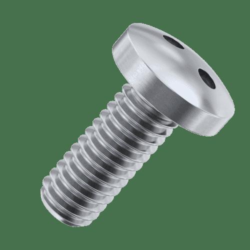 M4 x 10mm Security 2Hole / Snake Eye Pan Head Screws - Stainless Steel (A2)