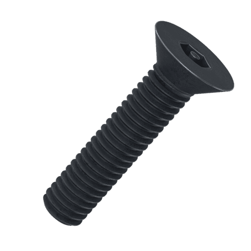 M5 x 8mm Security Socket Countersunk Screws (DIN 7991) - Black Stainless Steel (A2)