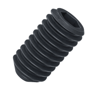 M3 x 4mm Cup Point Set / Grub Screws (DIN 916) - Black Stainless Steel (A2)