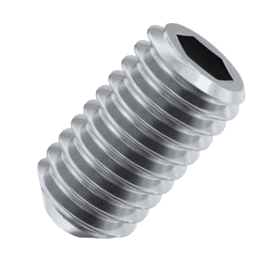 M10 x 25mm Cup Point Set / Grub Screws (DIN 916) - Stainless Steel (A2)