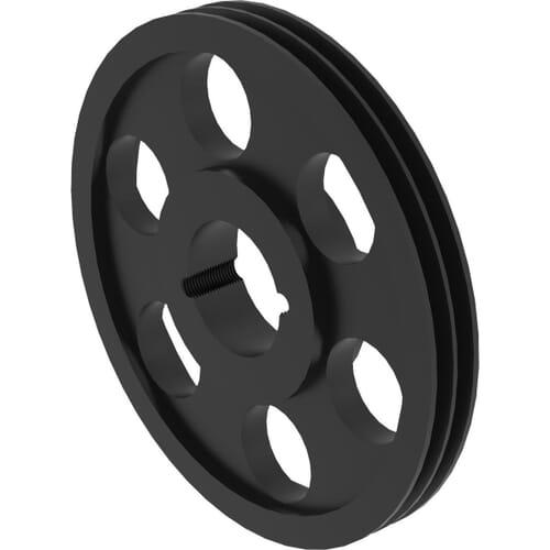400mm Diameter x 2 Groove, SPA Type Taper Bore Vee Pulleys - SPA400/2
