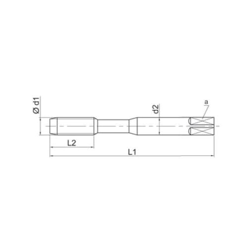 M52 Spiral Flute Machine Taps - Steam Tempered HSS-E (UFS E61M-V)