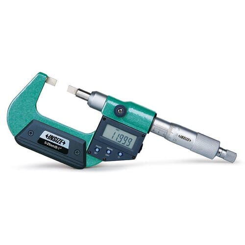25mm-50mm [+/-0.005mm] Digital Blade Micrometers, 6.50mm X 0.75mm Tips (Insize 3532)