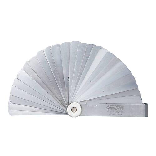 0.04mm - 1mm [60mm] 25 Leaf Straight Feeler Gauges (Insize 4601)