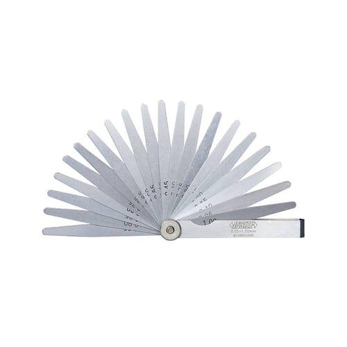 0.02mm - 1mm [90mm] 17 Leaf Tapered Feeler Gauges (Insize 4602)