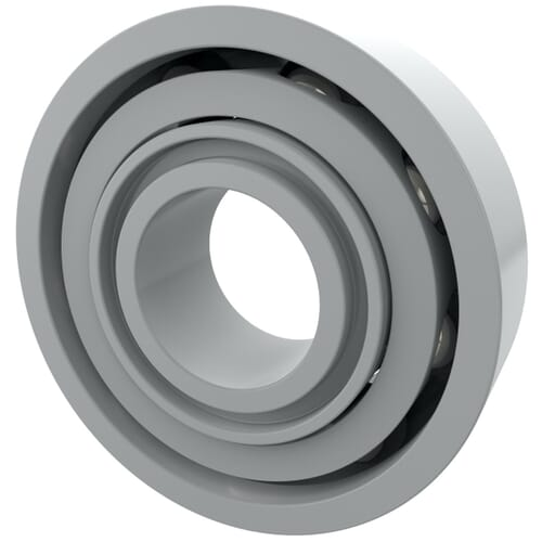 15mm x 42mm Acetal Plastic Deep Groove Ball Bearings - 6302-Z
