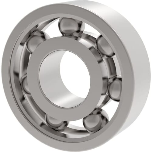 9mm x 30mm Stainless Steel Deep Groove Ball Bearings - 639-2RS
