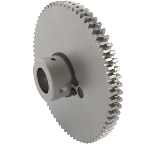 0.5 MOD - 100 Teeth - 8mm Face Width, Precision Anti-Backlash Spur Gears - Aluminium