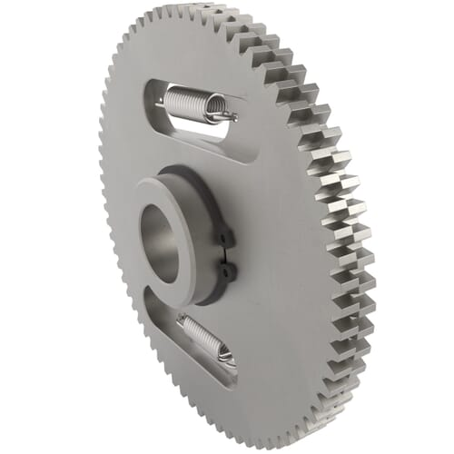 0.5 MOD - 120 Teeth - 8mm Face Width, Precision Anti-Backlash Spur Gears - Steel SCM