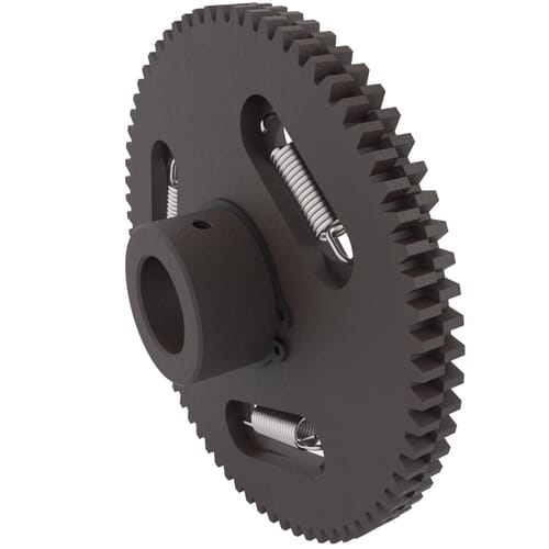 0.5 MOD - 100 Teeth - 5mm Face Width, Precision Anti-Backlash Spur Gears - Stainless Steel /SUS304