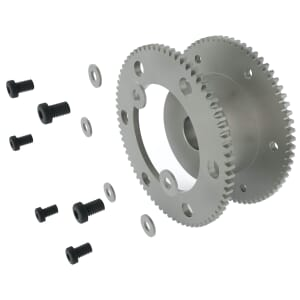 1 MOD - 80 Teeth - 10mm Face Width, Precision Ground Backlash Control Spur Gears - Steel SCM