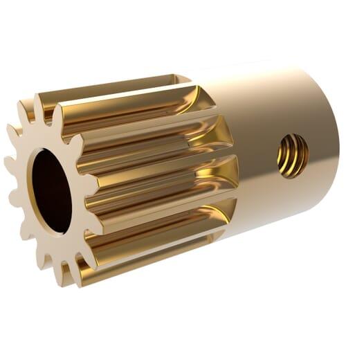 0.3 MOD - 14 Teeth - 4mm Face Width, K2-Type Precision Spur Gears - Brass