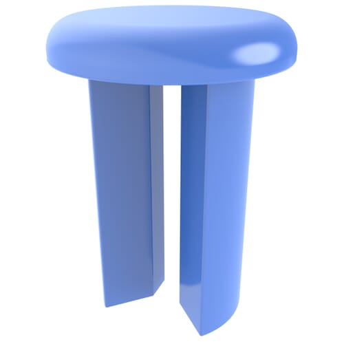 5.5mm x 12.4mm Coloured Assembly Clips - Blue Nylon
