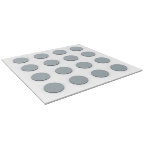 13mm Adhesive Cover Cap Sheets (20 Pieces) - Grey ABS