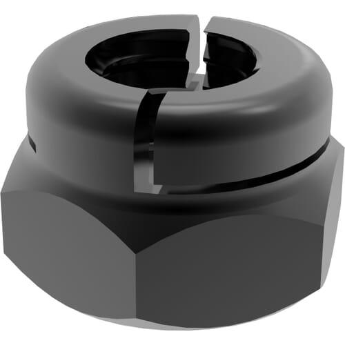 M5 Aerotight Locking Nuts - Black Stainless Steel (A2)