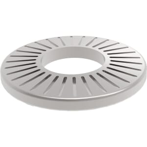 M10 AFNOR M-Type Serrated Conical Washers (NFE 25511)- Stainless Steel (A2)