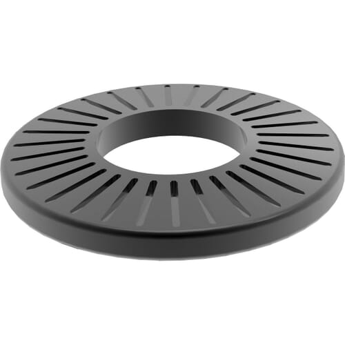 M8 AFNOR M-Type Serrated Conical Washers (NFE 25511)- Black Stainless Steel (A2)