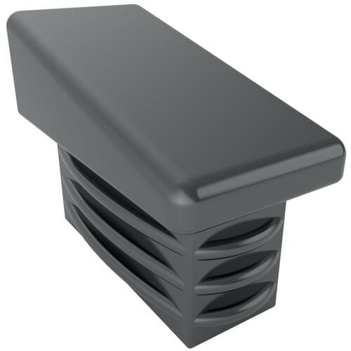 20 x 15mm x 1-2mm Angled Rectangular Inserts - Black Polyethylene