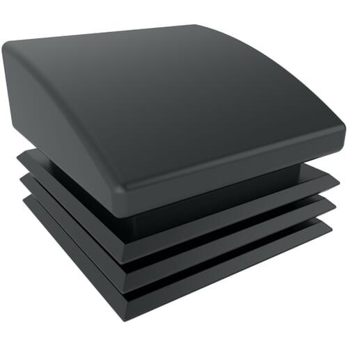 18mm x 10 Degree Angled Square Inserts - Black Polyethylene