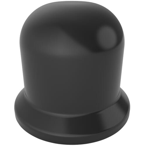 M12 x 18.8mm Bolt and Nut Protection Caps - Black LDPE