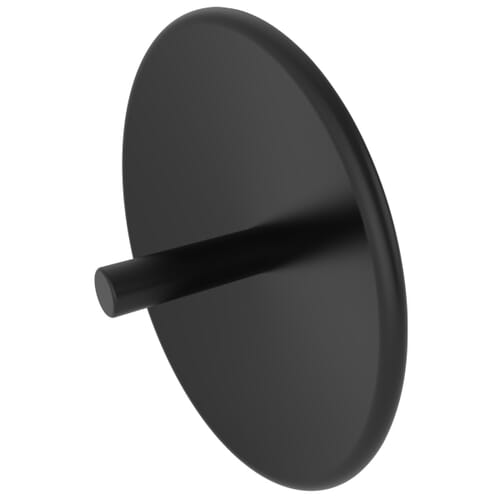 6.8mm x 1.9mm Blind Rivet Caps - Black HDPE