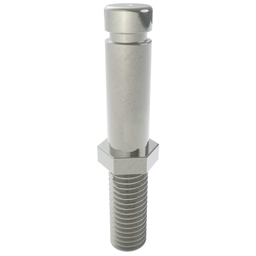 M10 x 11 x 25 Castor Stem Fittings - Zinc Plated Steel 100Kg Load Capacity