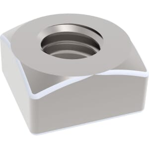 M10 Chamfered Square Nuts (DIN 557) - Stainless Steel (A2)