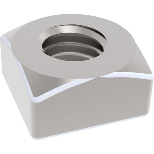 M6 Chamfered Square Nuts (DIN 557) - Stainless Steel (A2)