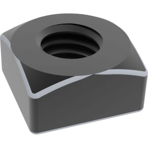 M10 Chamfered Square Nuts (DIN 557) - Black Stainless Steel (A2)