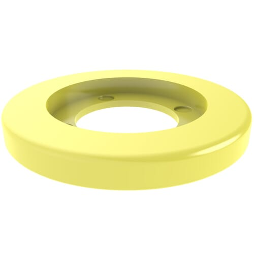 18.2mm x 2.1mm Coloured Assembly Clip Washers - Yellow Nylon