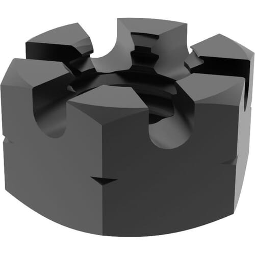 M16 Thin Castle Nuts (DIN 937) Black Stainless Steel (A2)