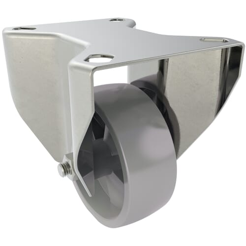 Industrial Castors With Fixed Plate