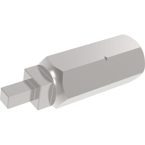 No.2 x 25mm Square Head Robertson Driver Bits - High Tensile Steel