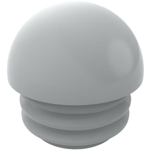 16mm x 1.5-2mm Domed Round Inserts - Black Polyethylene