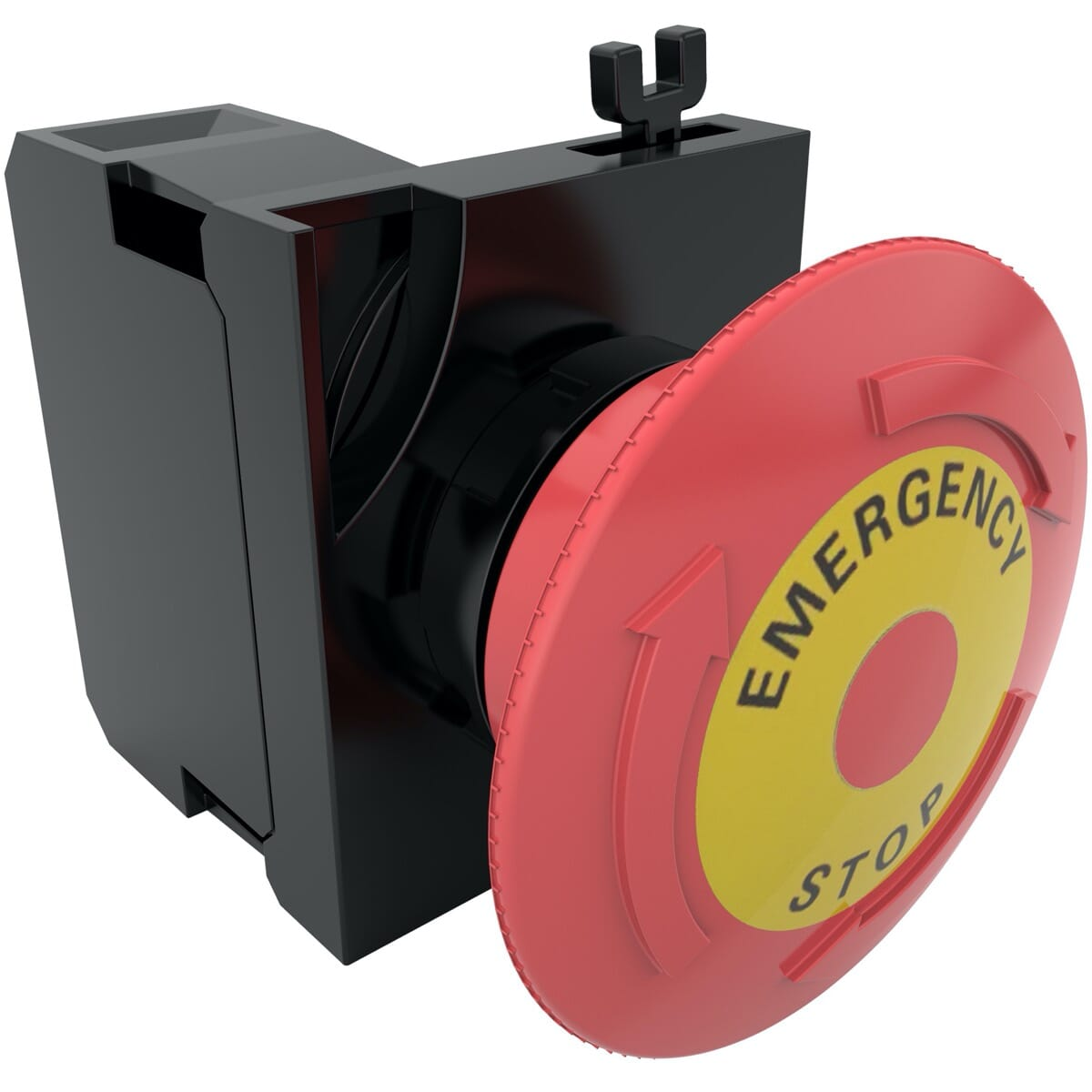 40mm IP65 Emergency Buttons, With Label (V2) - Red Polyamide
