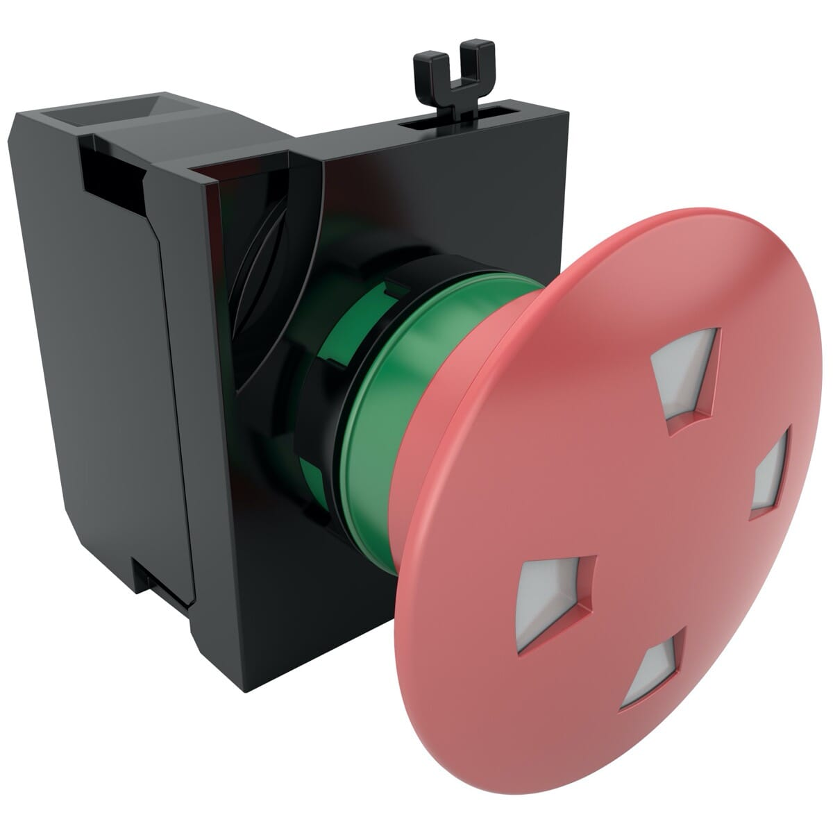 40mm IP65 Emergency Buttons, With Window Pull (V7) - Red Polyamide