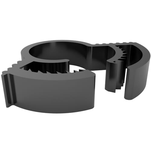 4.5mm x 1.65-7.62mm Double Grip Interlocking Hose Clamps - Black Polyamide