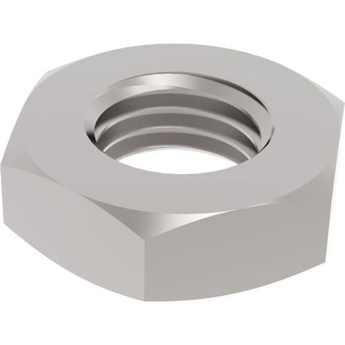 M6 Left Hand Thread Thin Hexagon Nuts (DIN 439) - Marine Stainless Steel (A4)